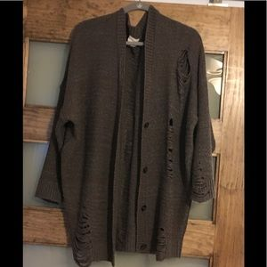 Pins & Needles UO destroyed cardigan sweater Med